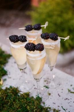 Blackberry-Champagne-Cocktails idees recettes noel
