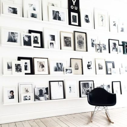 18 mani res de d corer un mur blanc h ll blogzine. Black Bedroom Furniture Sets. Home Design Ideas