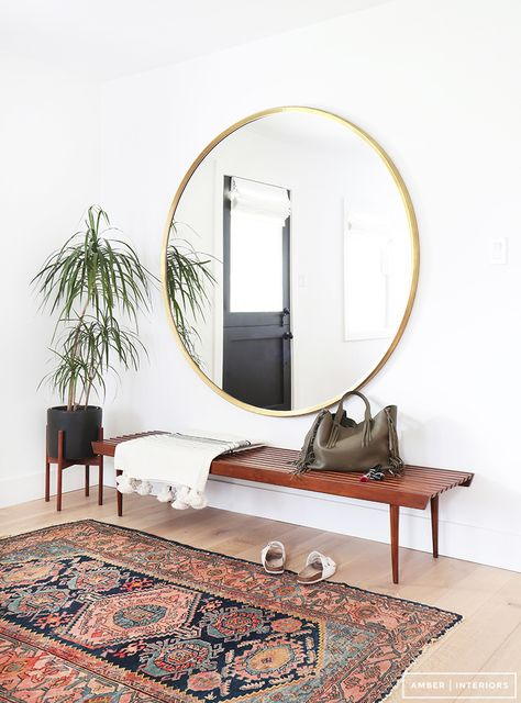 Winter 2016 Trend Round Mirror XXL // Hëllø Blogzine blog deco & lifestyle www.hello-hello.fr