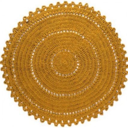 tapis gypsy en jute rond jaune varanasi // Hëllø Blogzine blog deco & lifestyle www.hello-hello.fr