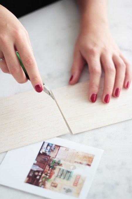 DIY Wooden Pola Magnet // Hëllø Blogzine blog deco & lifestyle www.hello-hello.fr #pola #diy #wood