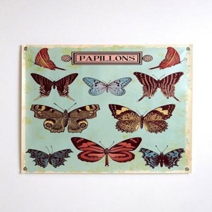 poster papillon vintage soldes 2017 coussin laine Mongolie // Hëllø Blogzine blog deco & lifestyle www.hello-hello.fr
