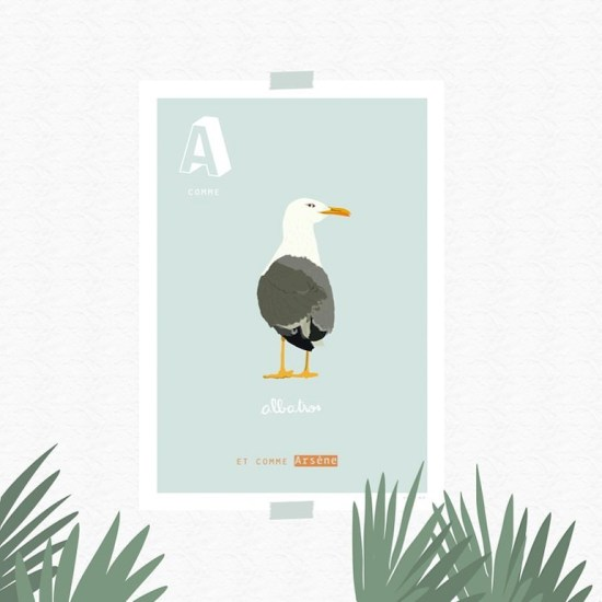Affiche enfant personnalisable Z comme zanimaux // Hëllø Blogzine blog deco & lifestyle www.hello-hello.fr #poster #affiche #kidsprint