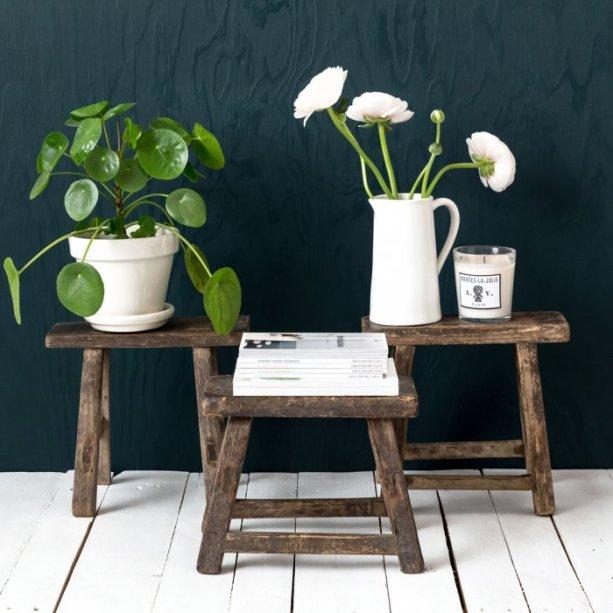 Des marchepieds vintage en guise de table d'appoint // Hëllø Blogzine blog deco & lifestyle www.hello-hello.fr