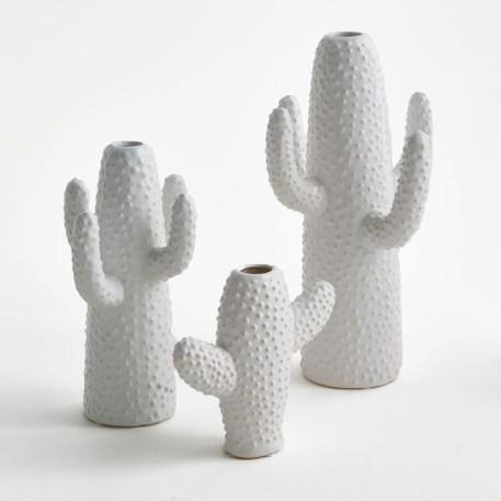 Vases cactus blancs Marie Michielssen pour Serax // Hëllø Blogzine blog deco & lifestyle www.hello-hello.fr