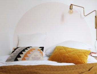 Comment réaliser une tête de lit peinte ronde ? // Hëllø Blogzine blog deco & lifestyle www.hello-hello.fr