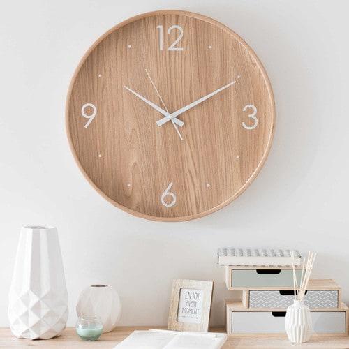 Horloge en bois Maisons du Monde // Hëllø Blogzine blog deco & lifestyle www.hello-hello.fr