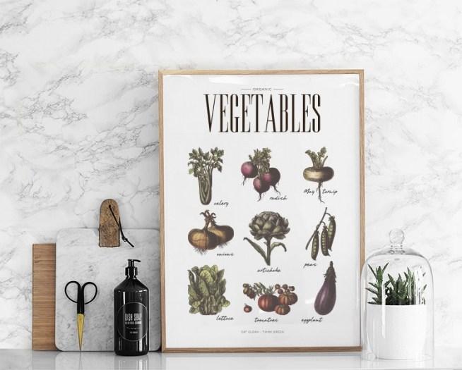 Planches pédagogique légumes style Deyrolle // Hëllø Blogzine blog deco & lifestyle www.hello-hello.fr