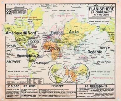 Planches pédagogique planisphère style Deyrolle // Hëllø Blogzine blog deco & lifestyle www.hello-hello.fr