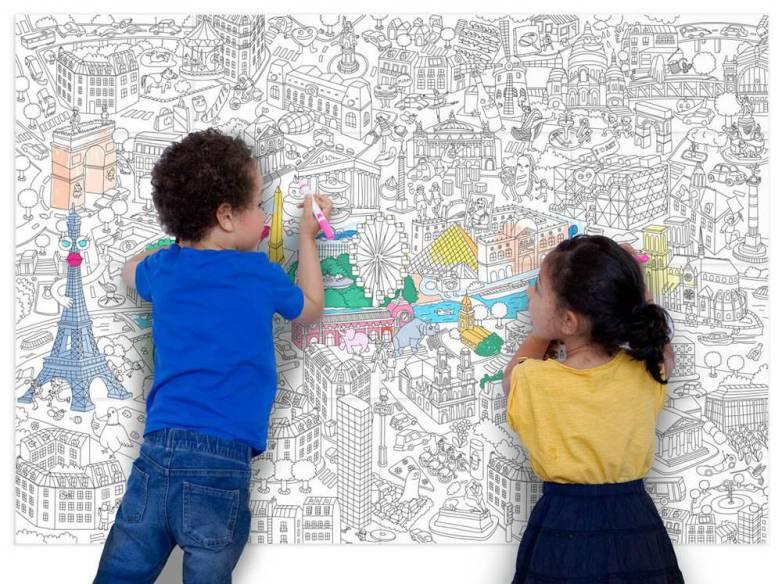 Poster à colorier - Idées cadeaux de noël enfants mixte // Hëllø Blogzine blog deco & lifestyle www.hello-hello.fr