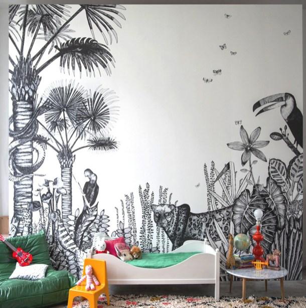 o trouver du papier peint pour faire un d cor mural. Black Bedroom Furniture Sets. Home Design Ideas