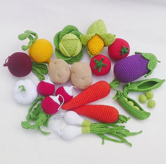 Fruits légumes et animaux en crochet // Hëllø Blogzine blog deco & lifestyle www.hello-hello.fr