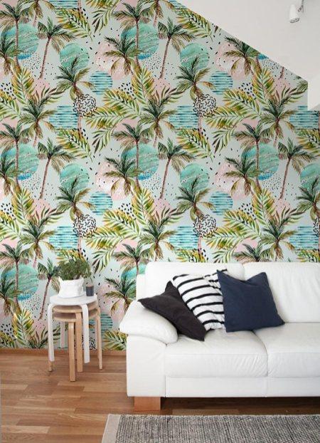 Papier peint tropical // Hëllø Blogzine blog deco & lifestyle www.hello-hello.fr