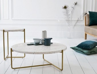 Table basse en terrazzo et laiton - terrazzo and brass coffee table // Hellø Blogzine - www.hello-hello.fr//
