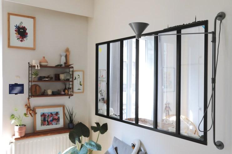 Une verrière pour agrandir l'espace chez Déborah du Studio ADC // Hellø Blogzine blog deco & lifestyle www.hello-hello.fr