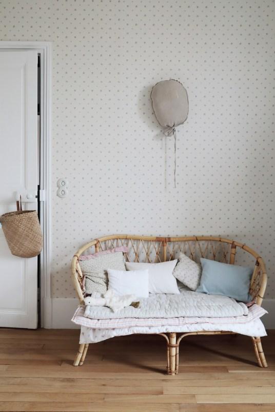 La maison à la déco vintage aux accents anglais de Maï, créatrice de la marque de bijoux Marceline // Hellø Blogzine blog deco & lifestyle www.hello-hello.fr