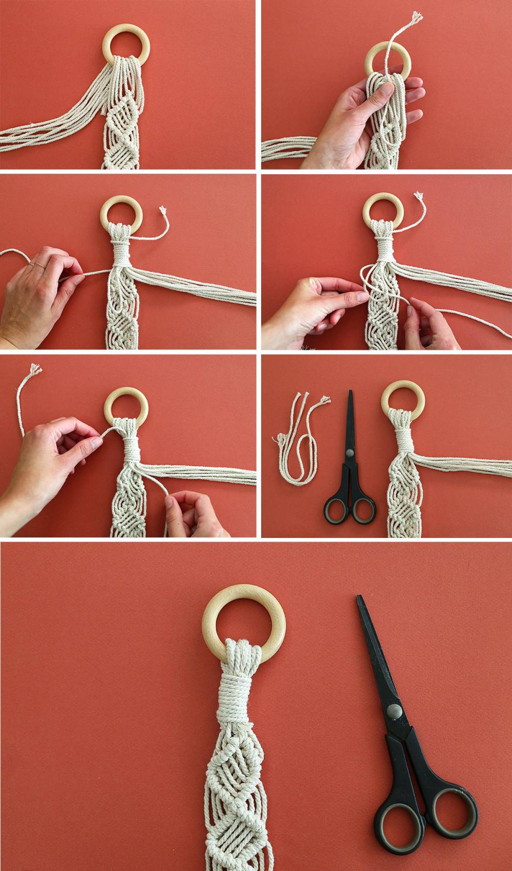 DIY sangle de tapis de yoga en macramé // Hellø Blogzine blog deco & lifestyle www.hello-hello.fr