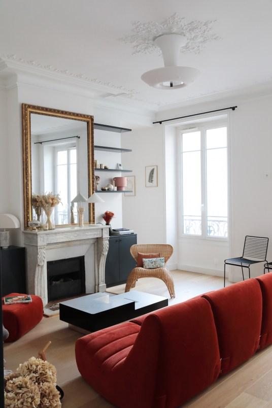 L'appartement haussmannien contemporain de Capucine, cofondatrice de Gazette Rp // Hellø Blogzine blog deco & lifestyle www.hello-hello.fr