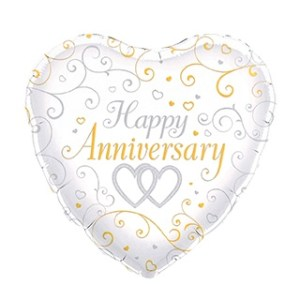 Balloon Heart Anniversary