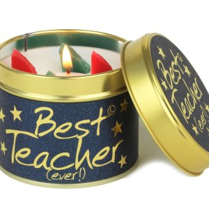 Best Teacher Candle Hello Petal