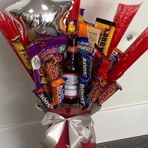 Hello Petal Father's Day Chocolate Beer Bouquet