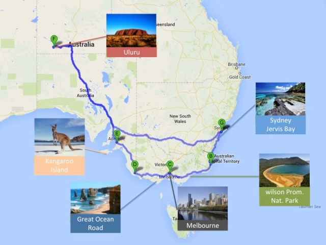 Sydney - Melbourne - Uluru