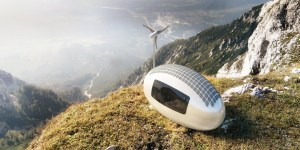 The Ecocapsule on a cliff