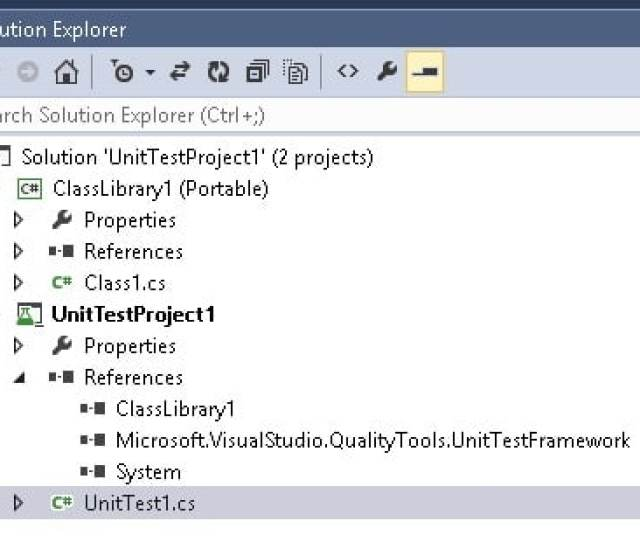 Visual Studio Create Test Project Solution How To Create And Run