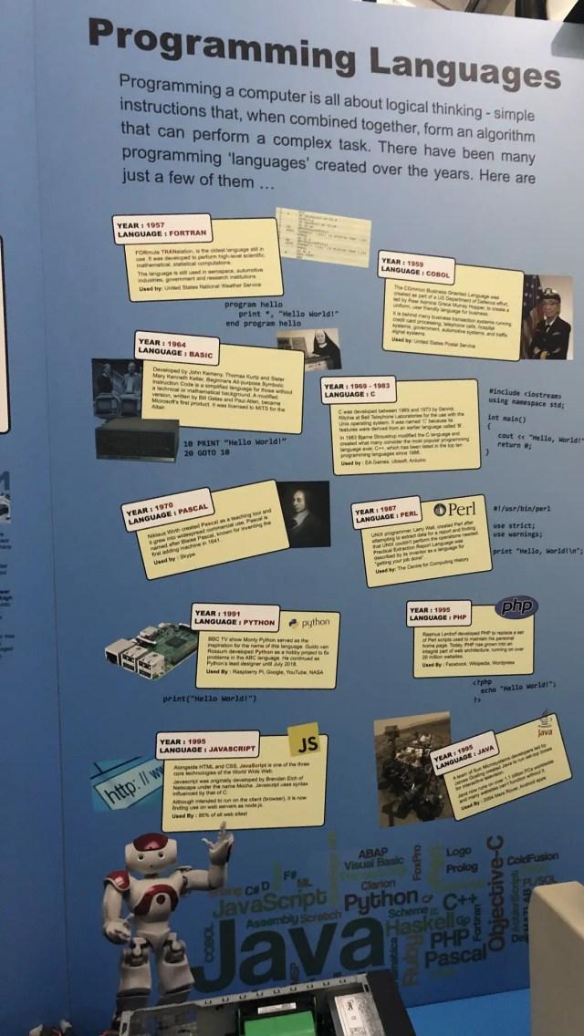 programming-language-history Computing History Museum vintage computing
