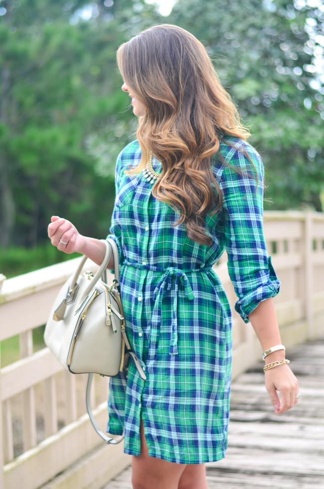 Flannel Shirt Dress-17