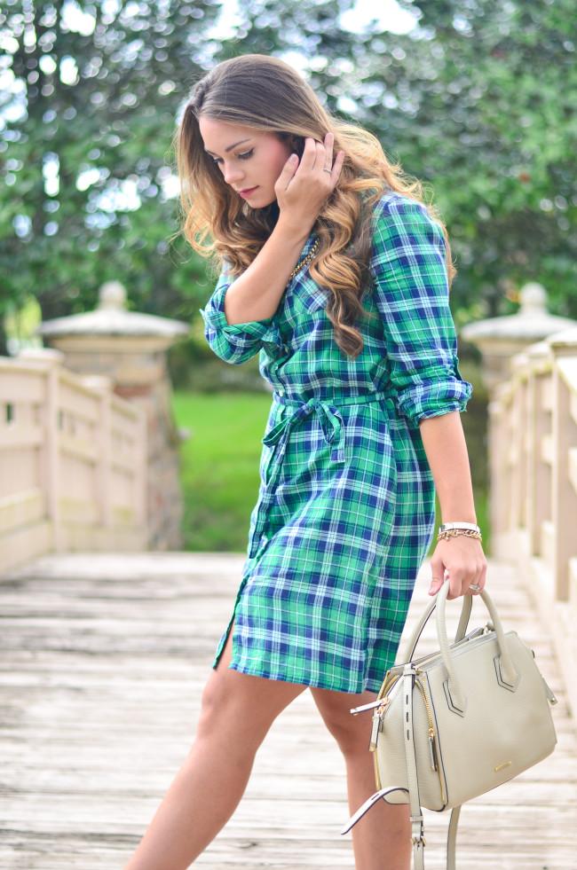 Flannel Shirt Dress-2