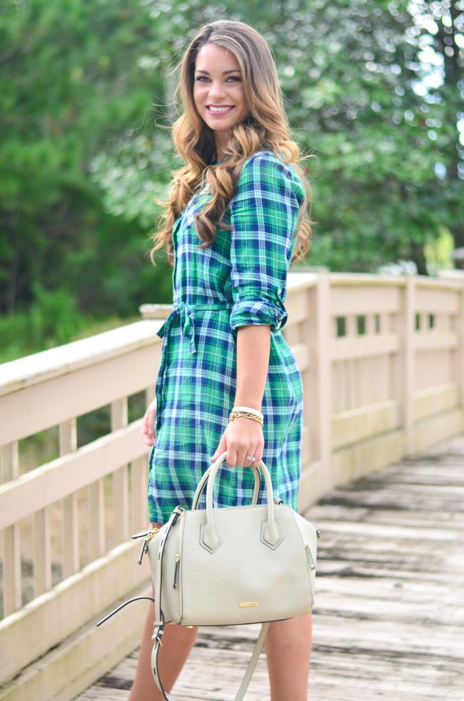 Flannel Shirt Dress-4