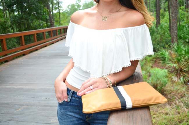 white flare shirt- flare jeans-5