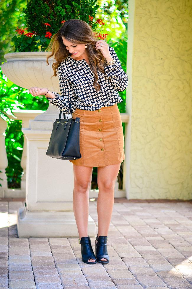 target suede skirt-5