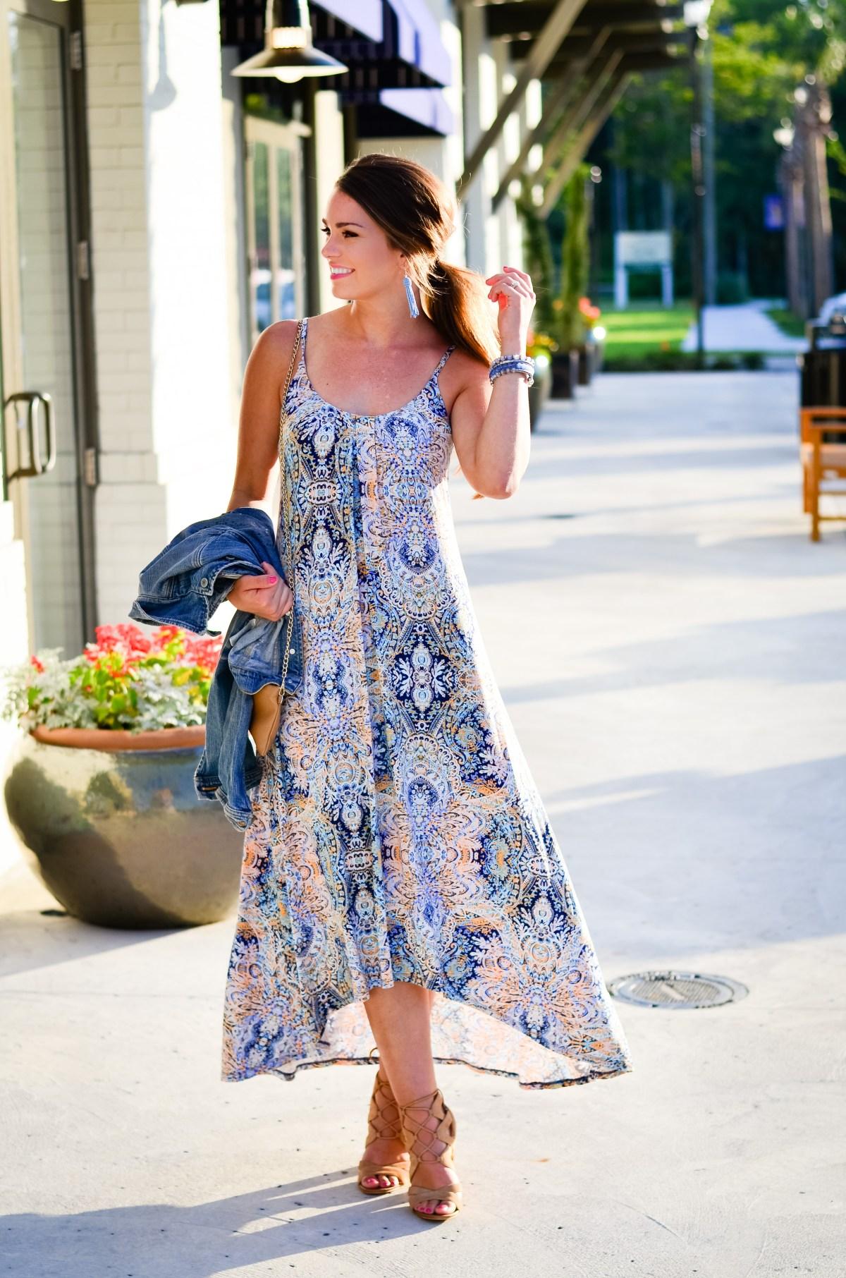 Paisley Maxi Dress-5