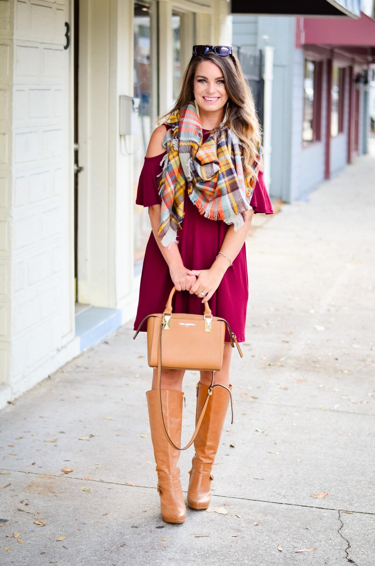 maroon-dress-blanket-scarf-goldfinch-13