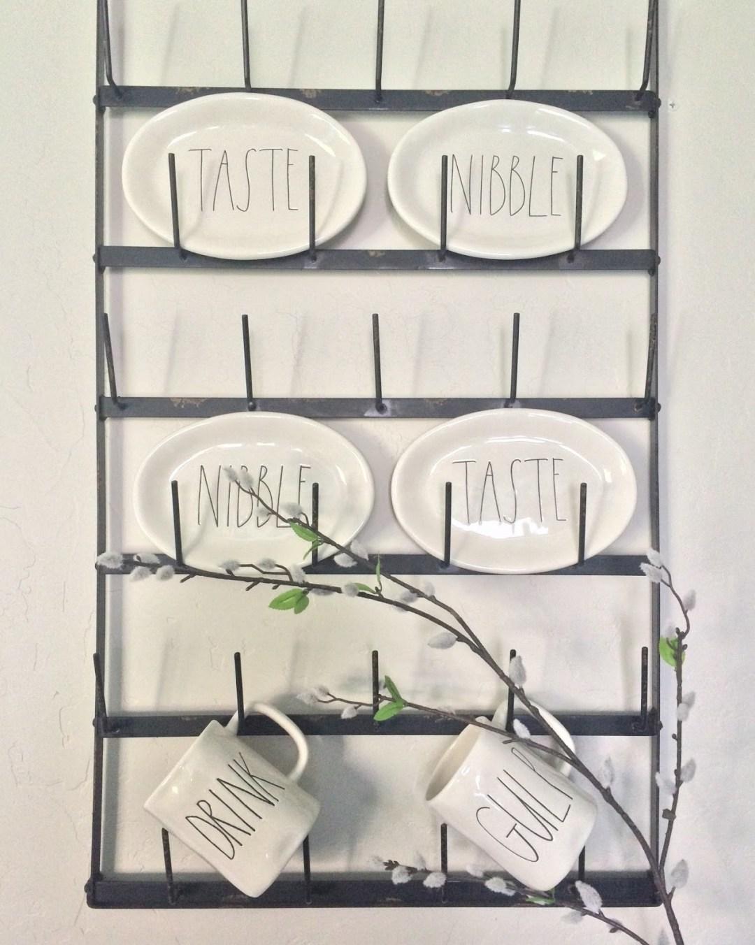 farmhouse kitchen cup rack