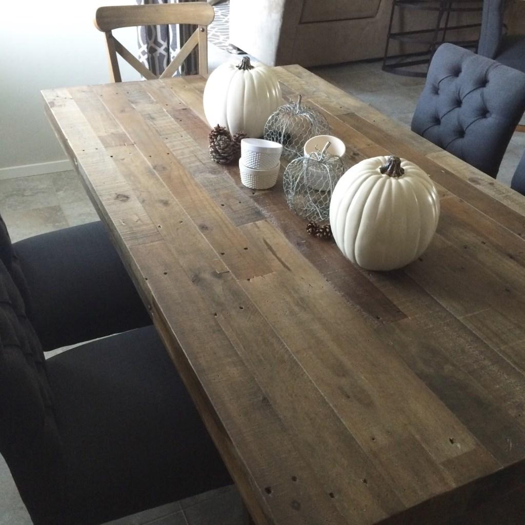 fall decor tablescape