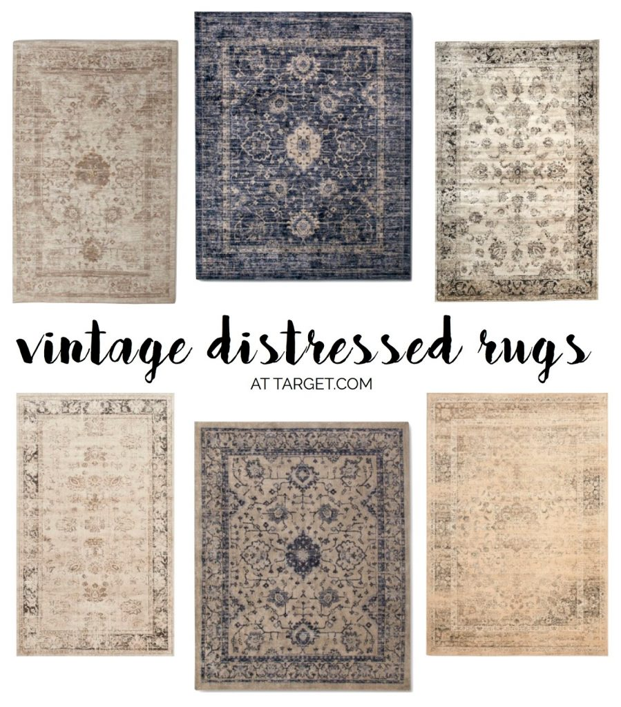 Distressed Farmhouse Living Room: Distressed Rugs