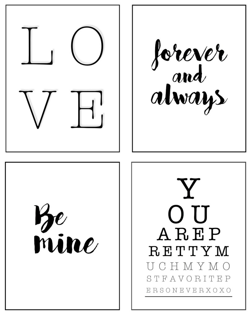 FREE Valentine's Day Printables | helloallisonblog.com