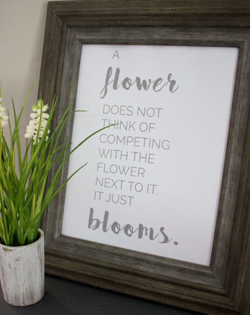 Bloom quote printable
