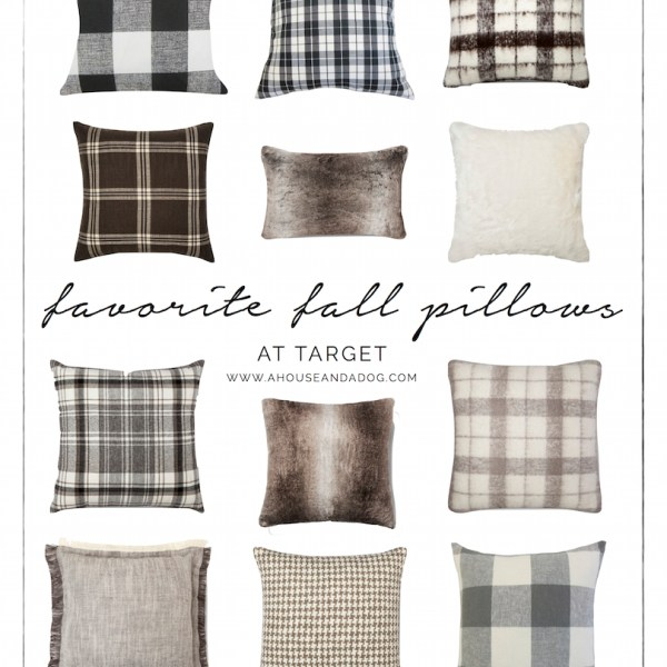 Fall Pillows - plaid, herringbone, houndstooth, buffalo check and fur! Some of my favorites from Target. | helloallisonblog.com