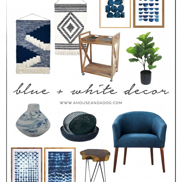 Blue and White Decor is very IN right now!   helloallisonblog.com