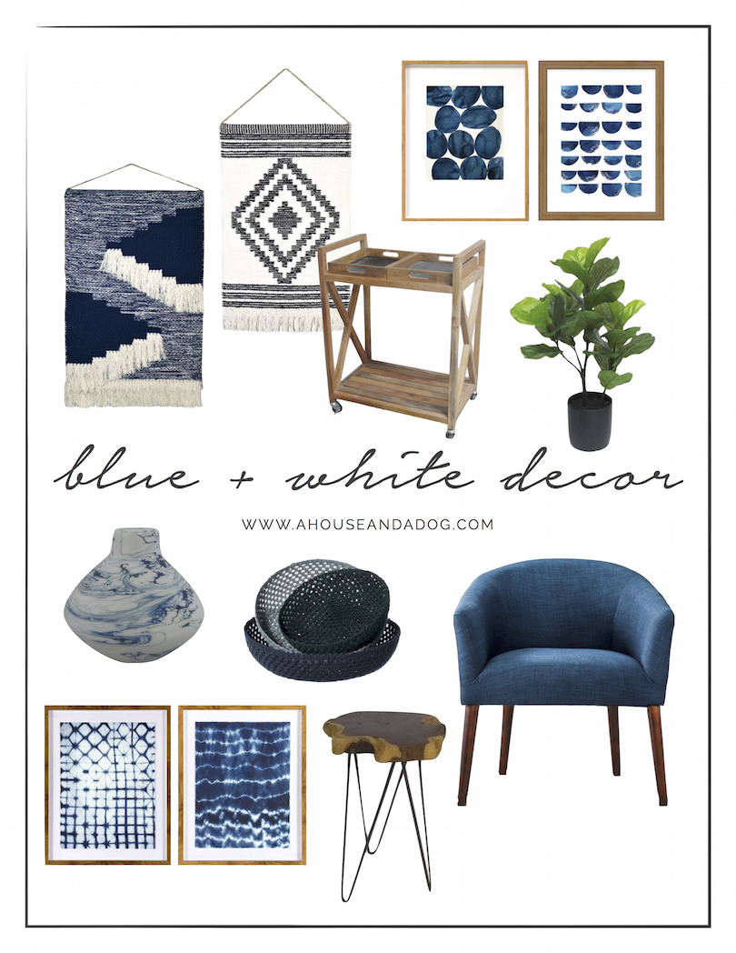 Blue and White Decor is very IN right now! | helloallisonblog.com