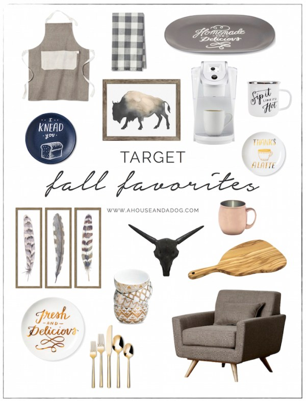 Fall Favorites from Target - Decor, Art & Kitchen | helloallisonblog.com