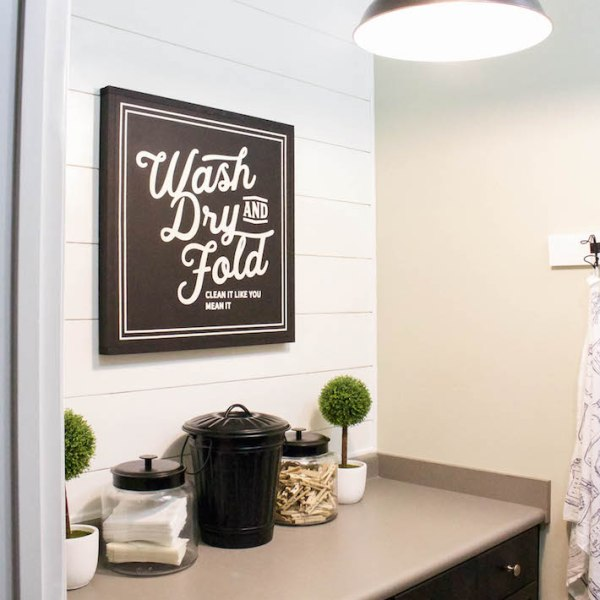 New Laundry Sign & Update One Year Later | helloallisonblog.com