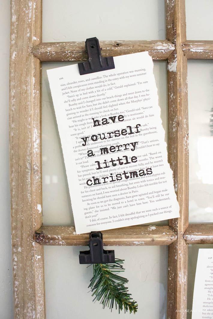 Christmas Book Art with FREE Printables | helloallisonblog.com