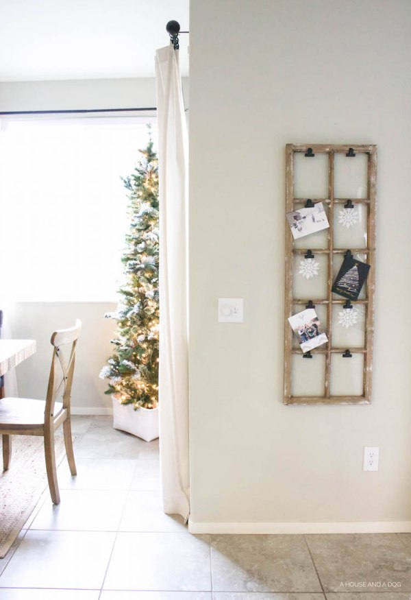Simple & Easy Christmas Card Display