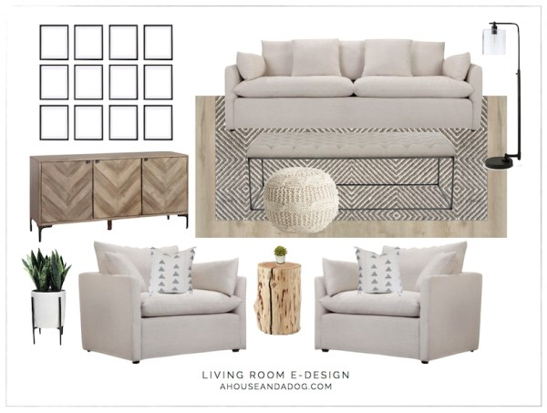 Living Room e-Design with Joss & Main | helloallisonblog.com