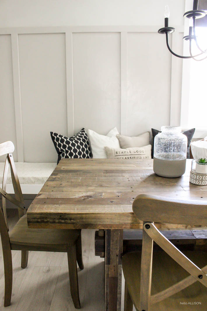 Easy DIY Board And Batten Hello Allison - Board and batten dining room